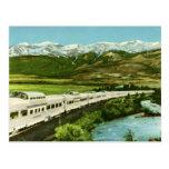 California Zephyr Train, Colorado Rockies Vintage Postcard