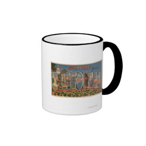 CaliforniaLarge Letter ScenesState Coffee Mug