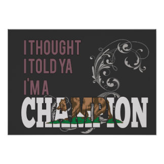 Californian and a Champion Print