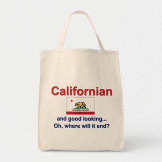 Californian apuesto bolsa lienzo