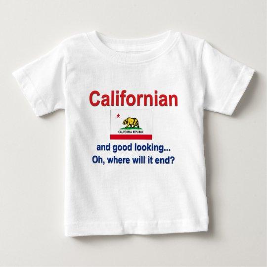 Californian apuesto playera de bebé