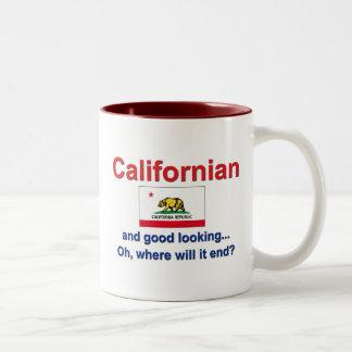 Californian apuesto tazas de café