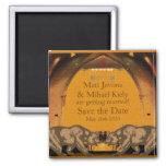 Californian Bear Grooms Gay Wedding Announcement 2 Inch Square Magnet