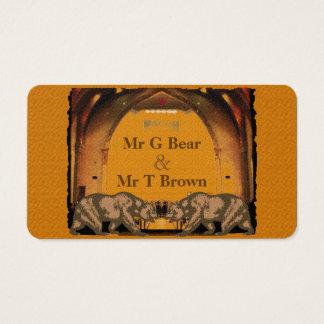 Californian Bears Contact Card for Gay Grooms