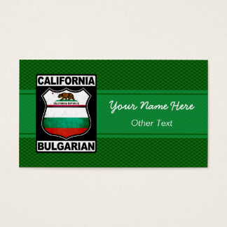 Californian Bulgarian American Business Cards