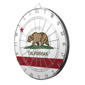 Californian Dartboard With Darts