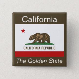 Californian Flag Button