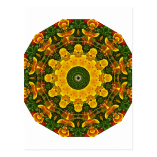 Californian Poppies Nature, Flower-Mandala Postcard