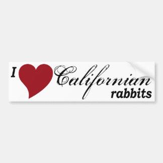 Californian rabbits bumper sticker