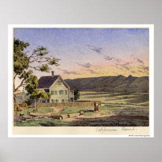 Californian Ranch Poster