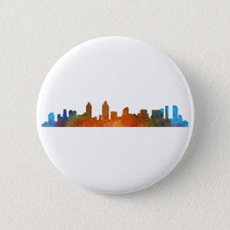 Californian San Diego City Skyline Watercolor v01 Pinback Button
