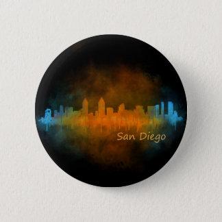 Californian San Diego City Skyline Watercolor v04 Button