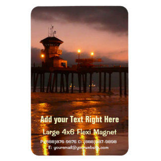 Californian Sunset - Huntington Beach Pier Magnet