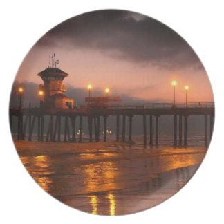 Californian Sunset - Huntington Beach Pier Plate
