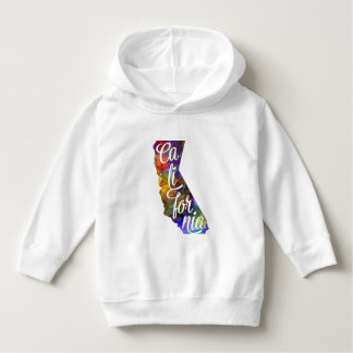 Californian U.S. State in watercolor text cut out Hoodie