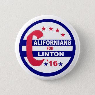 Californians for Clinton 2016 Pinback Button