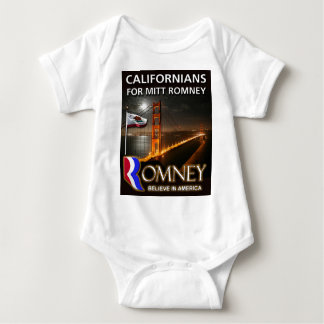 Californians for Mitt Romney 2012 Baby Bodysuit