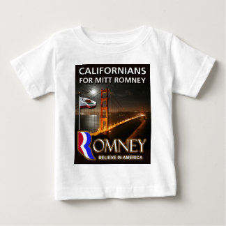 Californians for Mitt Romney 2012 Baby T-Shirt