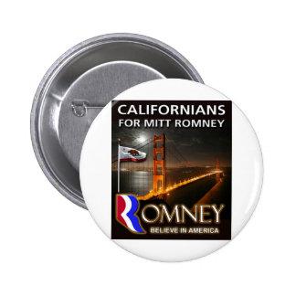 Californians for Mitt Romney 2012 Button