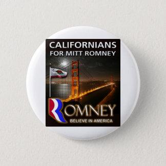 Californians for Mitt Romney 2012 Pinback Button