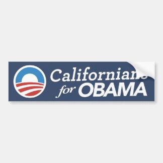 Californians For Obama Bumper Sticker CUSTOM COLOR Car Bumper Sticker
