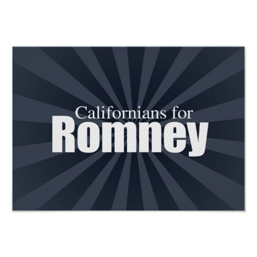 CALIFORNIANS FOR ROMNEY -.png Posters