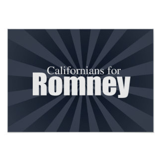 CALIFORNIANS PARA ROMNEY - .PNG POSTER