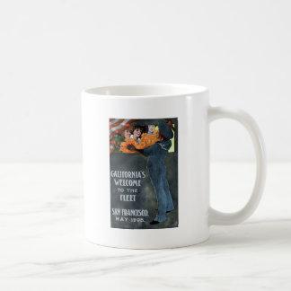 California's Welcome to the Fleet Classic White Coffee Mug