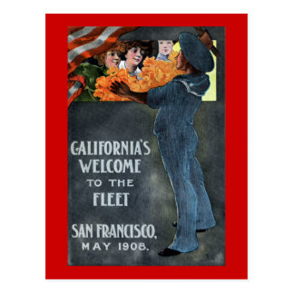 California's Welcome to the Fleet Postcard