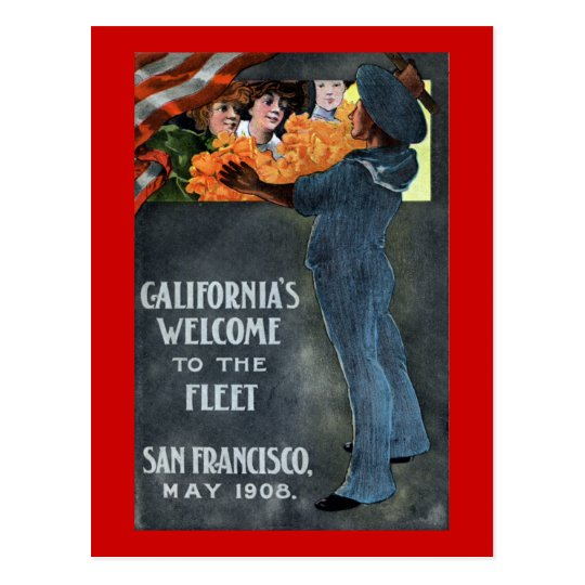 California's Welcome to the Fleet Postcard