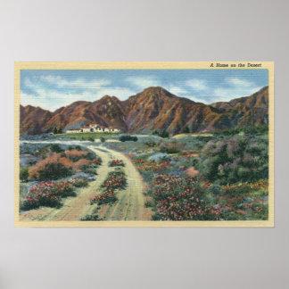 CaliforniaScenic Desert View of Residence Poster