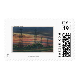 CaliforniaSunset View of Californian Oil Postage