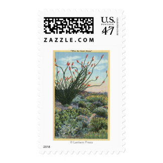 CaliforniaView of Cacti in Bloom Postage