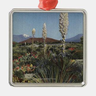CaliforniaYucca Cacti in Bloom in Desert Christmas Ornament