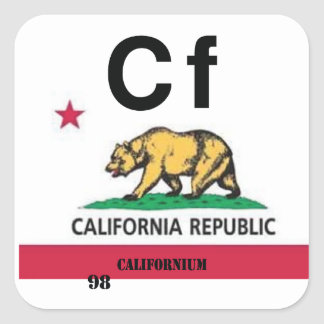 Californio de California Pegatina Cuadrada