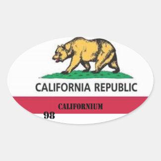 Californio de California Pegatina Ovalada