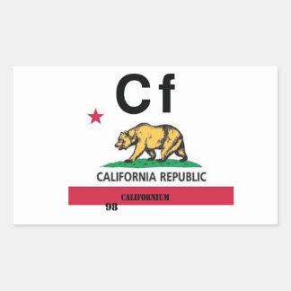 Californio de California Pegatina Rectangular