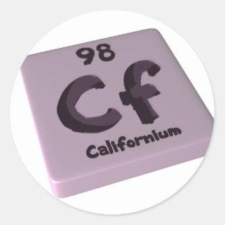 Californio de los Cf Pegatina Redonda