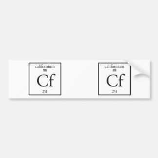 Californium Bumper Stickers
