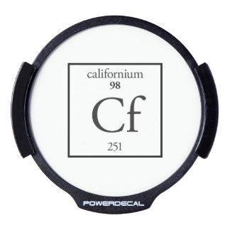 Californium LED Window Decal
