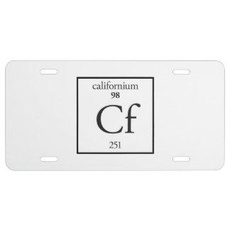 Californium License Plate