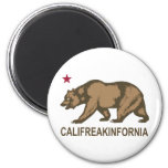 Califreakinfornia 2 Inch Round Magnet