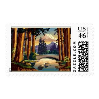 Califronia redwoods stamp