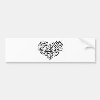 Caligrafía árabe etiqueta de parachoque
