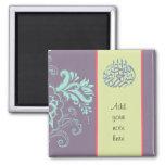 Caligrafía árabe floral islámica púrpura de Bismil Imán Cuadrado