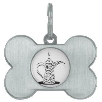 Caligrafía árabe placas de mascota
