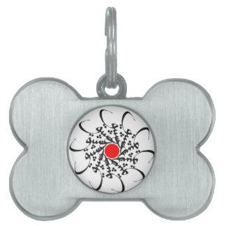 Caligrafía árabe placa de mascota