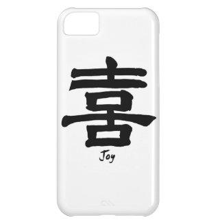 Caligrafía china japonesa de la ALEGRÍA del símbol Funda Para iPhone 5C