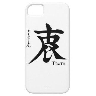 Caligrafía china japonesa de la VERDAD del símbolo iPhone 5 Carcasas