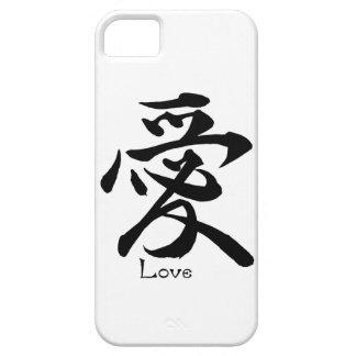 Caligrafía china japonesa del AMOR del símbolo del iPhone 5 Funda